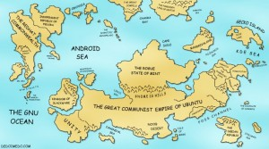La grande carte mondiale de Linux